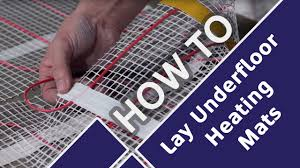 how to lay and install underfloor heating mats prior to tiling