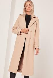military faux wool trench coat missguided