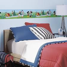Wallpaper Borders For Bedrooms Disney Peel U0026 Stick Wall Border Mickey U0026 Friends Walmart Com