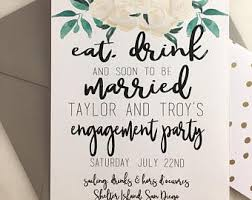 Eat Drink And Be Married Invitations Printable Eat Drink And Be Married Happy Hour Champagne