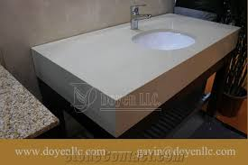 pure white quartz bathroom vanity tops with sink apron attached