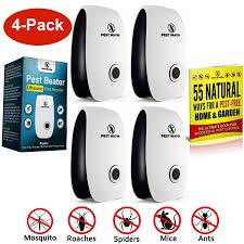 amazon com ultrasonic pest repeller set of 4 plug in pest