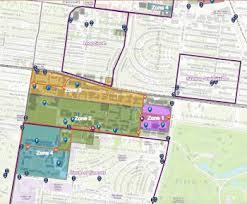 map zones danforth cus map parking transportation services