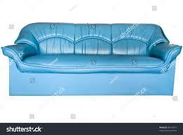 teal blue leather sofa blue leather sofa isolated on white stock photo 88125514