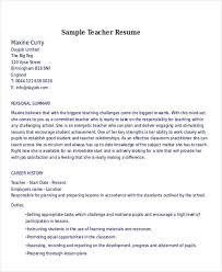 examples of teacher resumes teacher resume builder education