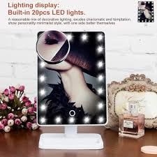 touch 10x magnifying 20 led lighted makeup mirror cosmetic vanity