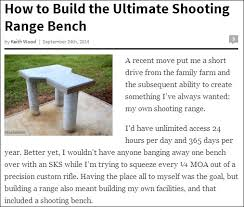 Knock Down Shooting Bench Plans How To Build Your Own Concrete Shooting Bench Daily Bulletin