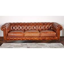 furniture home chester bay tufted genuine leather chesterfield
