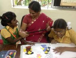 Teaching Deaf Blind Students Sadhana Unit For The Deafblind In Clarke Enabled In