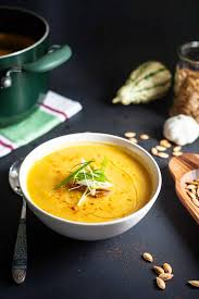 roasted garlic pumpkin soup best easy thanksgiving
