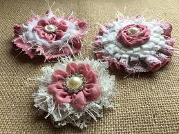 Chic Flower Shabby Chic Fabric Flowers Dusty Rose Fabric Flowers Vintage
