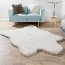Polar Bear Fur Rug Xxl Long Pile Rug Faux Fur Polar Bear Flokati Style Soft High
