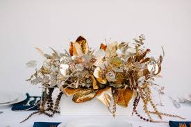 how to glitter gold fake floral centerpiece a practical wedding