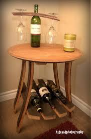 wine rack side table napa wine barrel side table the winey guys