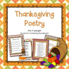 thanksgiving poetry by fausnight teachers pay teachers