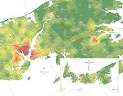 Population Density Map Of Canada by Province Of Prince Edward Island Population Density