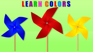 Youtube Red Color Learning Colors For Children Learn Colors With Windmill Cartoon