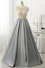 silver grey prom dresses formal evening dresses handmade simple