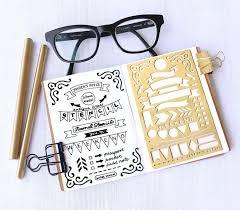 wedding planning journal planner stencil bullet journal stencil banner and flag stencil