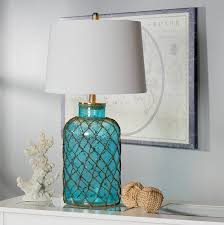 Teal Table Lamp Beachcrest Home Lennox Nautical Net 30