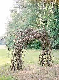 wedding arches made of tree branches western wedding arch