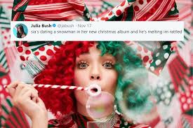 christmas photo album sia releases new christmas album called everyday is christmas