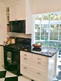 Black And White Kitchen Transitional Kitchen by Integrated Kitchens Kitchen Transitional Black U0026 White