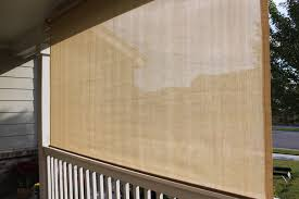 Patio Roll Down Shades Exterior Solar Screen Shades Or Porch Shades Modern Roller Shades