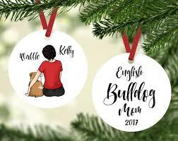 Shiba Inu Christmas Ornament English Bulldog Mom Custom Ornament English Bulldog Gift