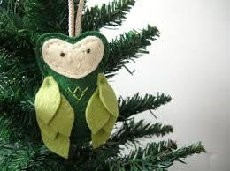felt owl ornaments the owl
