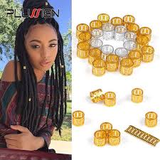 hair rings buy images Buy buy three get one free 50 pcs dreadlock beads metal hair jpg
