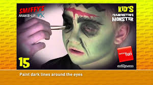 frankenstein halloween face painting make up tutorials for