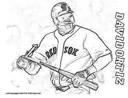 coloring pic baseball player david ortiz pages book for bebo pandco