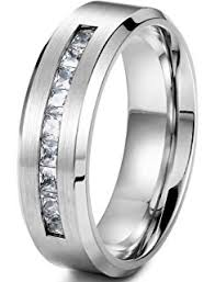 Men Wedding Rings by Amazon Com 8 Mm Men U0027s Titanium Ring Wedding Band With 9 Large