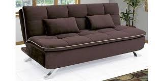 fabhomedecor ariana three seater sofa bed dark coffee