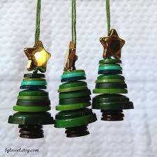 button tree ornaments set of 3