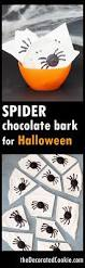 spider chocolate bark for halloween the decorated cookie