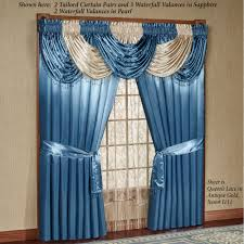 crushed voile rod pocket panel scarf valance sheer curtains