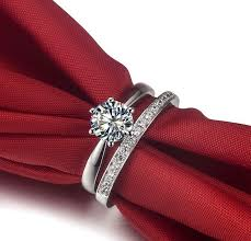 diamond wedding ring sets for 2ct two rings combine jewellry set pleasant made synthetic