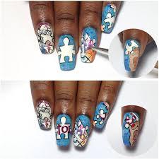 jigsaw puzzle nail art nail art ideas