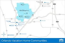 Map Of Orlando Orlando Vacation Communities By Atlas Vacation Homes