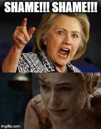 Cersei Lannister Meme - shame imgflip