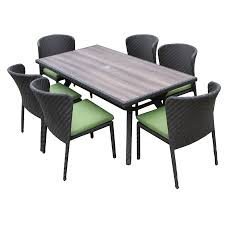 7 Pc Patio Dining Set - shop ae outdoor elaine 7 piece gray composite material patio