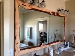 wood framed wood framed bathroom mirrors best decor things