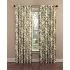 shop waverly 84 in platinum cotton back tab single curtain panel