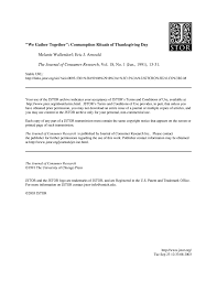 we gather together consumption rituals of thanksgiving day pdf