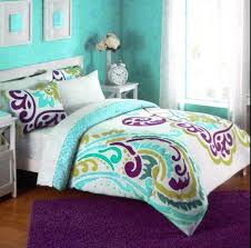 nursery beddings purple and aqua baby bedding together with