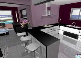 plan cuisine ouverte sur salon modèle cuisine ouverte sur salon argileo