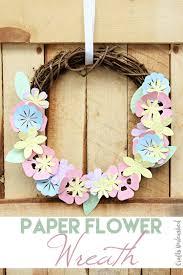 Spring Decor 2017 Diy Paper Flower Wreath Spring Decor Consumer Crafts