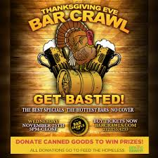 thanksgiving bar crawl 2015 murphguide nyc bar guide